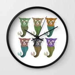 Cat Fish Wall Clock