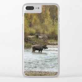 Moose Mid-Stream - Grand Tetons Clear iPhone Case