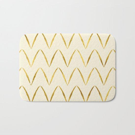 Cream Gold Foil 05 Bath Mat