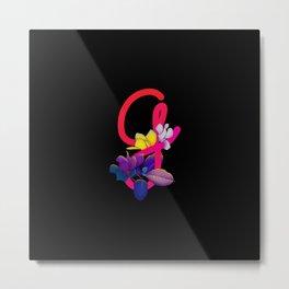 Letter G neon Metal Print
