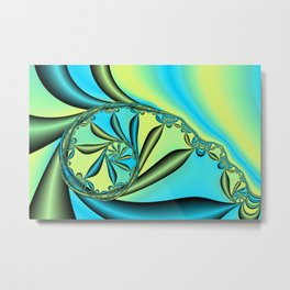 River Vine Fractal Metal Print