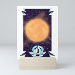 50's vintage space art. Mini Art Print