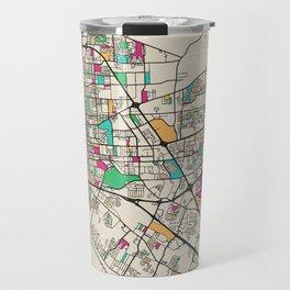 Colorful City Maps: Baton Rouge, Louisiana Travel Mug