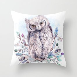 Keeper Of The Crystals, Makers Of Wands Throw Pillow
