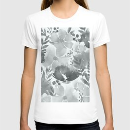 Watercolour background with variety of flowers V T-shirt