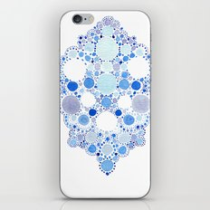 Blue Watercolor Dots iPhone & iPod Skin