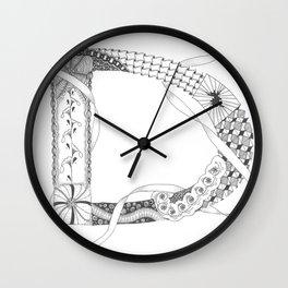 """Zenletter """"D"""" Wall Clock"""
