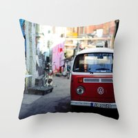 vw Throw Pillows featuring Vw T1 by Nechifor Ionut