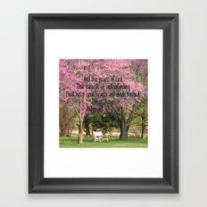 Redbud Beauties Framed Art Print