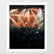 Alkaline Trio Live Art Print