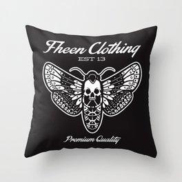 The fheen Moth  Throw Pillow