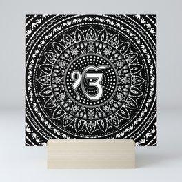 Ek Onkar / Ik Onkar Black and white #2 Mini Art Print