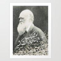 darwin Art Prints featuring Darwin by Warsheh