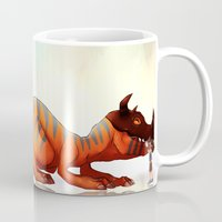 digimon Mugs featuring we're back by Autumnleaves