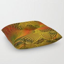 Mysterious and Luminous, Abstract Fractal Art Floor Pillow