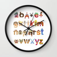 muppet Wall Clocks featuring The Great Muppet Alphabet (the sequel) by Mike Boon