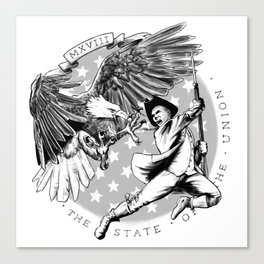 Eagle vs Patriot: The State of the Union 2018 Canvas Print