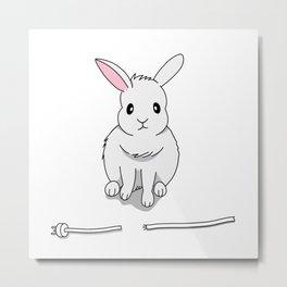 A grumpy bunny Metal Print