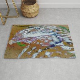 Chicken Hawk Immersed in True Colors in Galaxy Rug