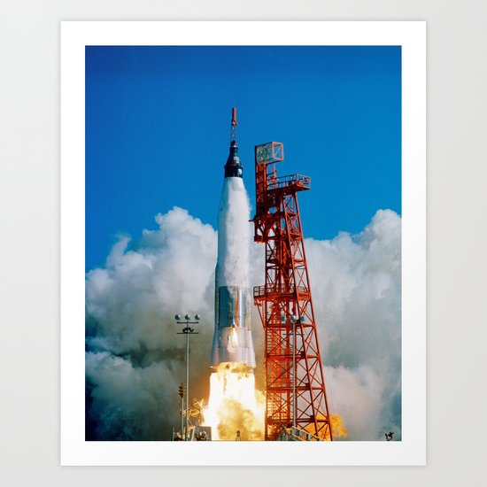 First manned orbital space flight Art Print