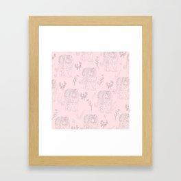 Wildflower Tiger Framed Art Print
