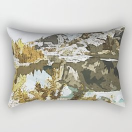 Natural Watercolor Rectangular Pillow