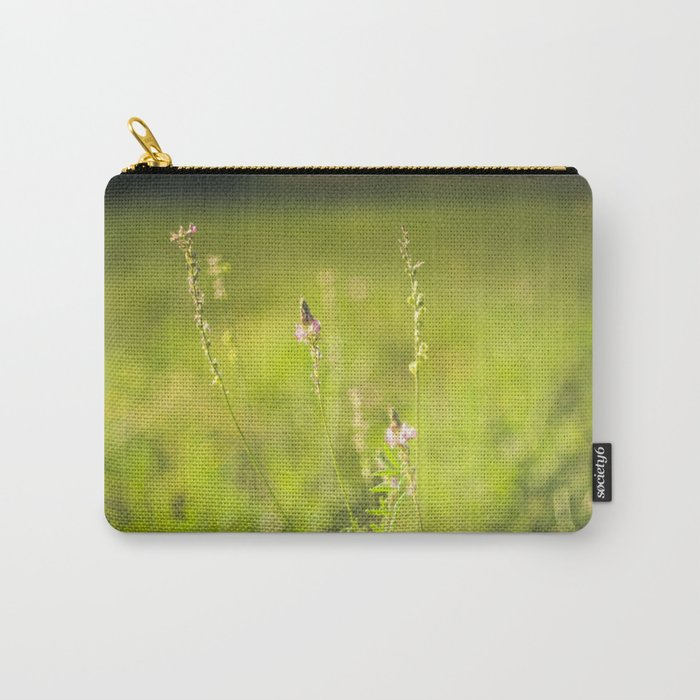 Wild flowers in the green meadow Carry-All Pouch
