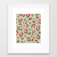floral pattern Framed Art Prints featuring FLORAL PATTERN by Allyson Johnson