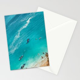 Beach from above Stationery Cards