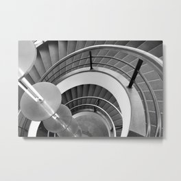 Curved Stairs Metal Print