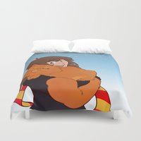 hermione Duvet Covers featuring Hermione and Crookshanks by AnimonInk