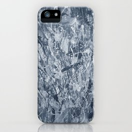Abstract black painting iPhone Case