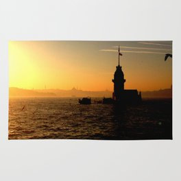 sunset in İstanbul Rug