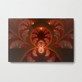 Fractal Mysterious, Warm Colors Are Shining Metal Print