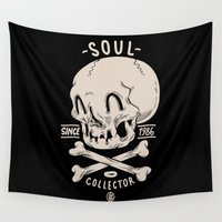 soul Wall Tapestries featuring Soul Collector by clogtwo
