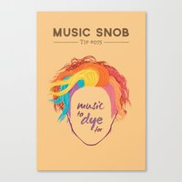 paramore Canvas Prints featuring MORE Music to DYE for — Music Snob Tip #075.5 by Elizabeth Owens