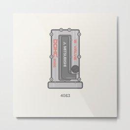 Mitsubishi 4g63 Rocker Cover  Metal Print