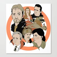 fargo Canvas Prints featuring Fargo by Kate Thornley