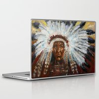 native american Laptop & iPad Skins featuring Native American by Mary J. Welty