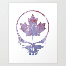 Canadian Steal Your Face (variation #3) Art Print