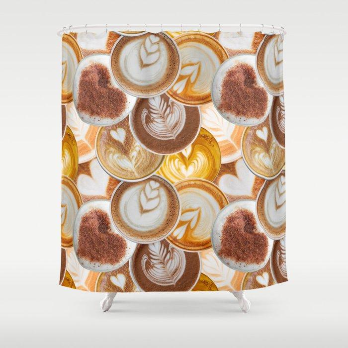 Lotta Lattes Shower Curtain