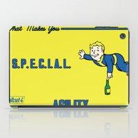 fallout iPad Cases featuring Agility S.P.E.C.I.A.L. Fallout 4 by sgrunfo