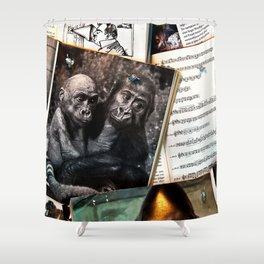 Melody for a Monkey - BERLIN - Germany Shower Curtain