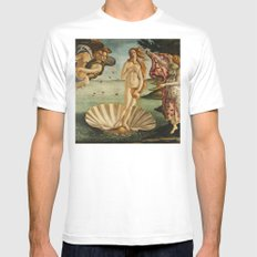 The Birth of Venus (Nascita di Venere) by Sandro Botticelli 2X-LARGE Mens Fitted Tee White