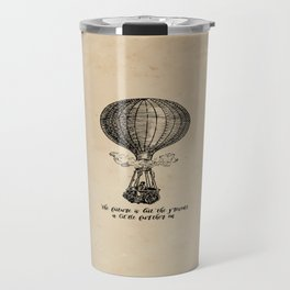 Jules Verne - The future is but the present Travel Mug