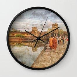 Angkor Monk Wall Clock