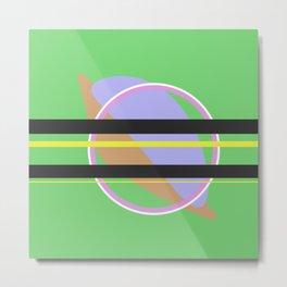 Pastel Simplicity - Minimalistic Design Metal Print