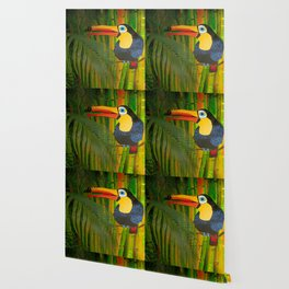 toucan and the bamboos Wallpaper