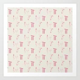 Lavender style, Textile design 2020 Art Print