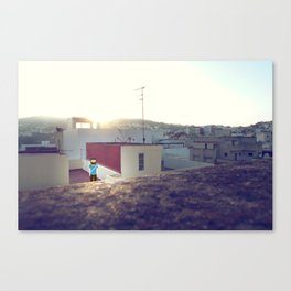 Tanger roof top with PixelBoy Canvas Print